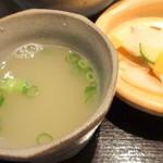 19762393 - 【再訪問2013年6月】鳥スープとさっぱりお新香!