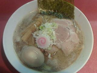 麺屋しのはら 三日月食堂 - 味玉ラーメン800円