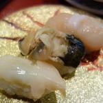 19765819 - 貝三品(¥315) 真ん中の貝が歯応えが良く、美味しい~