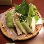 万燈 - 野菜盛り