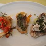 レストランパヴォーネ - 魚料理3種盛り