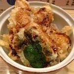 天ぷら てんかつ - 小天丼に、カニプラス♪