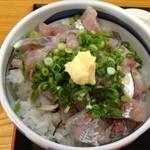 たぬき - 鯵のタタキ丼アップ♪