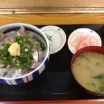 たぬき - 鯵のタタキ丼600円