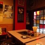 わっしょい - 入口側テーブル席(昨秋2012'9.28の撮影)