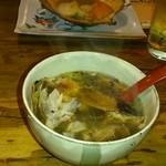 19778892 - めんめを食べた後のスープ