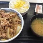 吉野家 - 牛丼並み盛(280円)+サラダセット(120円)