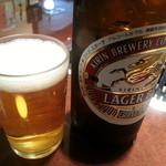 19782816 - 瓶ビール(500円) 乾杯(^o^)/