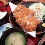お好み食堂 蘭 - 一寸かつ定食(\1470)