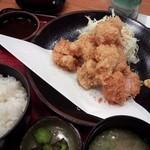 お好み食堂 蘭 - 復刻 一口ひれかつ定食(\1200)