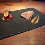 イタリア料理イケミ - 【イケミコース】メイン 牛もも肉のタリアータ トマトのカポナータ