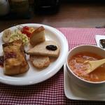 ブロートヒュッテ麦童 - 料理写真:麦セット \680(税別)