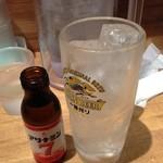 麺と心 7 - 久しぶりにアルコール。変わり種の「酎ハイ アリナミン7」(≧∇≦)。
