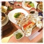 ロッヂ 白い鳥 - 料理写真:尾瀬の山菜!  コゴミ、ワラビ、ウドの天ぷらなどなど、山の幸がいっぱい!