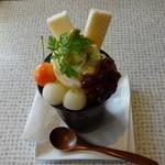 フルーツアイランド百果園 - 抹茶パフェ 580円