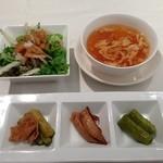 19793341 - H.25.06.30.昼 デラックス桃谷樓ランチ'(前菜、サラダ、スープ) 2,890円