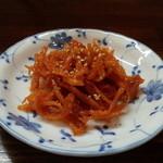 日賀志 - 自家製スルメのキムチ