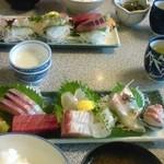 魚佐 - 刺身定食。(4年前)