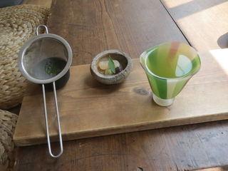 ワド オモテナシ カフェ - ごこう煎茶(かぶせ茶) 甘納豆のお茶受け付き1