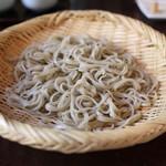 手打ち蕎麦 かね井 - 鴨ざるそば の蕎麦 (2013/06)