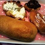 ケント ベーカリー - ドイツパンとオニオンハムサラダクロワッサン、チョコクロワッサン、塩パンを買いました