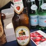 トラットリア・アルモ - イタリアンビール「モレッティ」