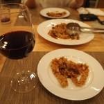 トラットリア・アルモ - 赤ワインが合うんだぁ