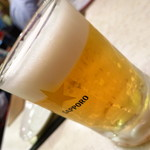たまや - サッポロ生ビール(中)390円
