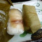 静亭 - 鯖の柿の葉寿司!!