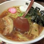 らーめん初代一国堂 - 昔風らーめん(醤油)580円