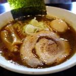 らーめんダイニング 庵 - 煮干らーめん+味玉(醤油)