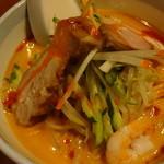 19817425 - 炎の冷し坦々麺(小):714円