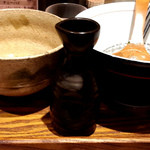 麺と心 7 - W白湯つけ麺 スープ割りは徳利で!