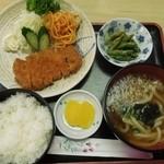茂里庵 - 料理写真:とんかつ定食(うどん付)
