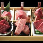 焼肉居酒家 韓の台所 - 山形牛6種盛り
