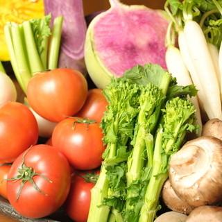 自家農園で育てた野菜はその日の分だけ収穫して使用★