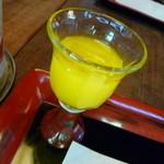 かりほ庵 - 【食前酒】運転手の僕は【マンゴージュース】です…(涙)