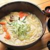 Koushuuhoutousuijin - 料理写真:水神ほうとう・・自家製和風出汁と厳選した麺と甘みの強いかぼちゃが特徴。最後まで飽きずに食べられるこだわり一品
