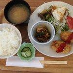 まめcafe - 日替わ定食(おからコロッケ)