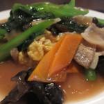 ザ・肉餃子 四川厨房 - 豚肉とキクラゲ玉子炒めアップ
