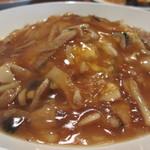 ザ・肉餃子 四川厨房 - フカヒレあんかけ炒飯アップ