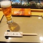 すし処大川 - 料理写真:生ビール♪