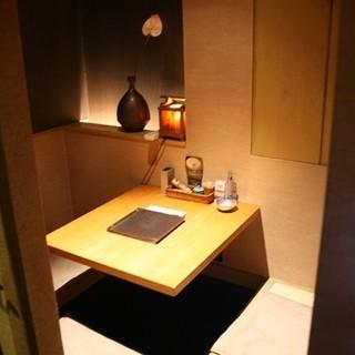 2~3名様対応の個室も完備