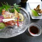 まるせい伊勢 - 2013.07 お造り マグロ、アジ