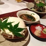 菜 - ざる豆腐。