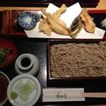北海道産石臼挽蕎麦 増田屋 - 天ざるランチ