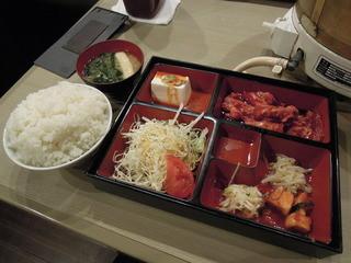 焼肉苑 麻布十番店 - 【再訪】カルビ定食、肉&ライスとも大盛