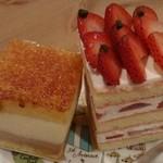 御影高杉  - 苺いっぱいショートケーキ、お酒の香りサンマルク。老舗のお味は普通でした。