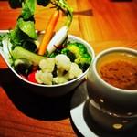 佐五右衛門 - 有機野菜の和風バーニャカウダ 700円