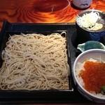 海鮮和彩 はなぜん - お蕎麦といくら丼ランチ(980円)